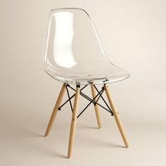 One of my favorite discoveries at WorldMarket.com: Clear Molded Evie Chairs Set of 2