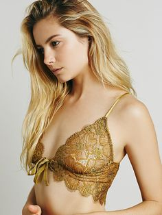 SKIVVIES by For Love & Lemons Honeysuckle Bralette at Free People Clothing Boutique
