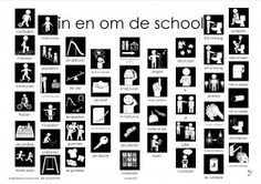 pictogrammen plaat 1 Dutch Language, Back 2 School, Digi Stamps, Primary School, Diy For Kids, Spelling, How To Plan, Mini, Posters