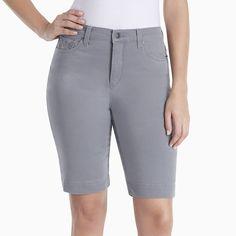 Women's Gloria Vanderbilt Amanda Bermuda Shorts, Size: 16, Green