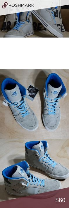 9b80c45dcef5 Supra Vaider grey suede and blue These size 11 Supras are super dope but  unfortunately they