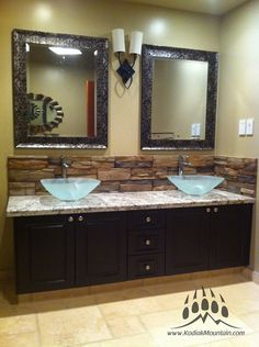Manufactured Stone Back-Spash | Kodiak Mountain Stone | www.KodiakMountain.com