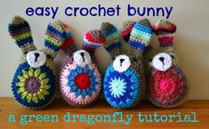 Crochet bunny patrón libre