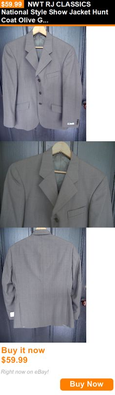 English Show Coats 183362: Nwt Rj Classics National Style Show Jacket Hunt Coat Olive Gray Mens 38R 38 R BUY IT NOW ONLY: $59.99