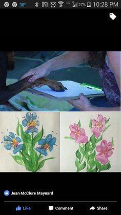 Paw print paint