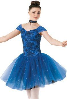 Weissman™   Cap Sleeve Embroidered Dress