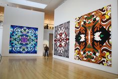 The Bricoleur: Glitter Paintings by Reuben Paterson Maori Symbols, Maori Art, Glitter Paint, Exhibition Space, Travel Usa, Contemporary Art, Art Gallery, Arts And Crafts, Tapestry
