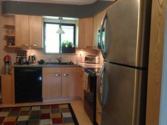 """Kitchen option with """"Sealskin"""" (Sherwin Williams) paint. Which is better? #stylecure"""
