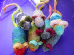 Needle Felted Catnip Mouse Wool Cat Toy. $8.00, via Etsy.