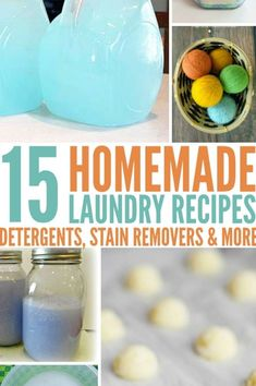 The cost of laundry supplies is outrageous! But with our 15 recipes, you'll be saving money in no time at all and still getting your laundry bright white and soft. Don't miss out on these money-saving laundry recipes! Laundry Stain Remover, Laundry Supplies, Homemade Laundry Detergent, Really Good Stuff, Diy Shops, Homemade Soap Recipes, Home Made Soap, Cool Diy Projects, Recycled Crafts