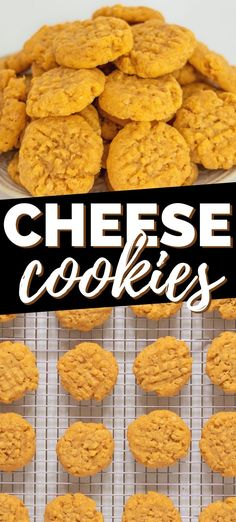 Cheddar cheese cookies with Rice Krispies are delightfully crunchy and savory with a nice kick of spice. Serve them as a snack or appetizer alone or add them to your appetizer board. #cheese #appetizer #easyappetizer #savorysnack