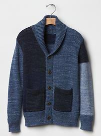 Patchwork shawl cardigan