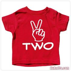 Boy or Girl 2nd Birthday Shirt Outfit. Two Years Old. Second B-Day Tee Shirt. Several Colors Available. By Liv & Co.™ - from livandco.com. #girlbirthday #boybirthday #twoyearsold #two #birthday.
