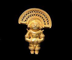 Tairona Gold Pendant - AM.0447, Origin: Columbia, Circa: 900 AD to 1200 AD