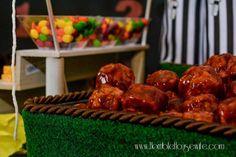Easy BBQ meatballs f