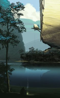 ArtStation - Film Environment / Visual development scene, Lemonade Illustration…