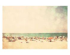 beach ocean retro travel photograph  whimsical by oohprettyshiny, $40.00