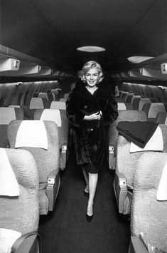 Commercial planes became more accessible, although they were still associated with the rich and famous. Marilyn Monroe was a famous movie star during the 60's and was often tied romantically to JFK. This gave her more acclaim.