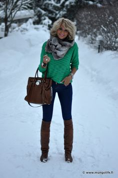 love the green sweater