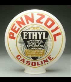 1-Piece Pennzoil Ethyl Gas Globe