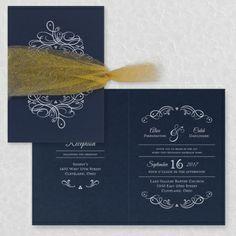 Galleria - Invitation - Midnight - Option 1 | Occasions In Print, LLC