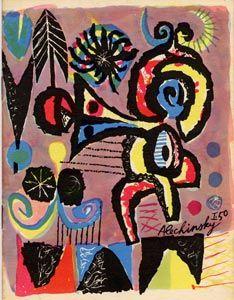 Alechinsky (1927) stort zich met zoveel enthousiasme op de organisatie van de Cobra beweging en haar tijdschrift dat hij er nauwelijks aan toekomt om zijn eigen kunstwerken te maken. Een groot deel van zijn tijd gaat dan ook op aan werkzaamheden zoals timmeren en metselen om het 'Cobra huis'  van ateliers en woonruimtes te voorzien.