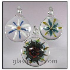 Glass Flower Pendants - Boro Lampwork Focal Beads by Glass Peace $20.95