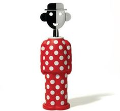 "Alessi - ""Alessandro M."" Limited Edition Red and White corkscrew. 2006. AM23 15"
