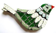 One of my greatest loves is beautiful Modern Country Crafts: traditional rural craftiness given a delicious contemporary twist. Mosaic Garden Art, Mosaic Pots, Mosaic Diy, Mosaic Crafts, Mosaic Glass, Mosaic Artwork, Mosaic Wall Art, Tile Art, Mosaic Animals