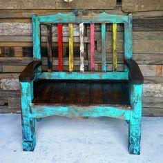 Attractive Zarape Rustic Bench