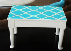 I want to do this to my boring white desk. DIY paint ideas: Free stencil download   # Pin++ for Pinterest #