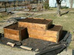 Pallekarmer til bruk i hagen Raised Flower Beds, Raised Garden Beds, Raised Beds, Garden Planters, Herb Garden, Home And Garden, Vegetable Garden Design, Geodesic Dome, Small Gardens