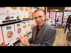 """*Choosing a healthy breakfast cereal with Jeff Novick.   This clip is part of Jeff's 3 hour dvd presentation """"Jeff Novick's Fast Food 3: Shopping School.""""  http://www.amazon.com/Jeff-Novicks-Fast-Food-Shopping/dp/B009ZIP9P4/ref=sr_1_1?ie=UTF8=1373288010=8-1=jeff+novick+shopping+school"""