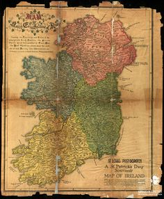 In Honor of the upcoming St. Patrick's Day Holiday, we present this vintage map of Ireland from the pages of the St. Louis Post Dispatch that is housed in the collection of the Abraham Lincoln Presidential Library. The text on the page (other than.
