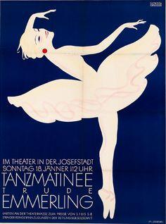 By Franz Griessler, 1930, Tanzmatinee Trude Emmerling, Theater in der Josefstadt, Wien.
