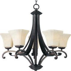 Maxim 21065 Oak Harbor 5 Light Single-Tier Chandelier Rustic Burnished Indoor Lighting Chandeliers