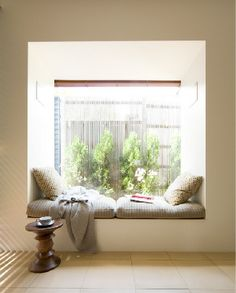 window reading cube. I want this... But with gorgeous curtains & a prettier view.