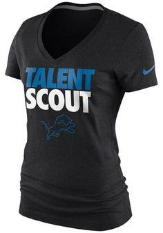 Nike Detroit Womens Black Talent Scout V-Neck
