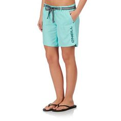O'Neill Board Shorts - O'Neill Pw Chica Solid Long Board Shorts - Clear Water Blue