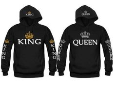 $11.69 - King &Queen Matching Couple Hoodies Love Matching His And Her Shirts Tops Lzl #ebay #Fashion