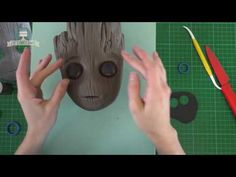 Baby Groot cake Guardians of the Galaxy Vol 2 Baby Groot Cake, Batman Cakes, Marvel Cake, Gaurdians Of The Galaxy, Biscuit, Movie Cakes, Galaxy Cake, Cake Topper Tutorial, Star Wars Cake