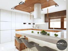 Kuchnia w nowoczesnym klimacie - zdjęcie od MONOstudio white kitchen   inspiration   modern   minimalism   wood   luxury   home design
