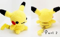 Pikachu Amigurumi Crochet Tutorial Part 2