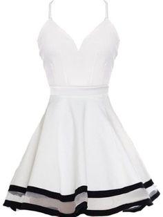 simple prom dresses,White A-line Spaghetti Straps Short Mini