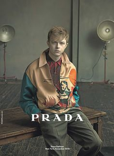 Dane DeHaanph by Annie Leibovitz for Prada Spring/Summer 2014 ad campaign.