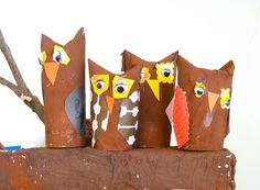 to use with owl unit-using recycled toilet paper rolls