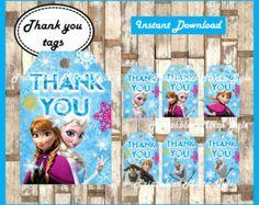 Disney Frozen Editable Label von DreamalittleCraft auf Etsy