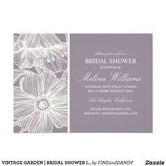 VINTAGE GARDEN | BRIDAL SHOWER INVITATION