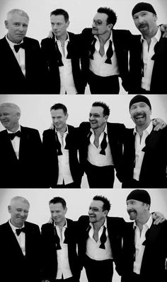 "Photo shoot from GQ (British) 10/2011 issue, featuring U2 as ""Men of the Year."""