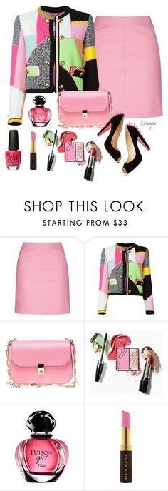 """""""Mother's Day"""" by gemique ❤ liked on Polyvore featuring Topshop, Moschino, Valentino, Kevyn Aucoin and OPI"""